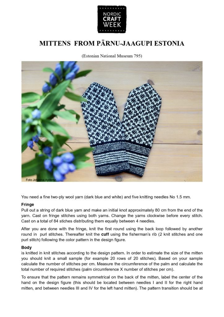 thumbnail of Mittens from Estonia Parnu_cor